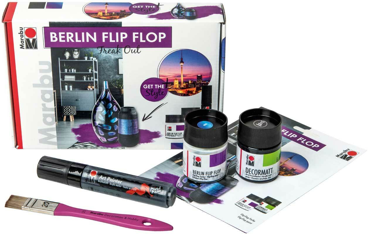Berlin Flip Flop - creative set, Freak Out