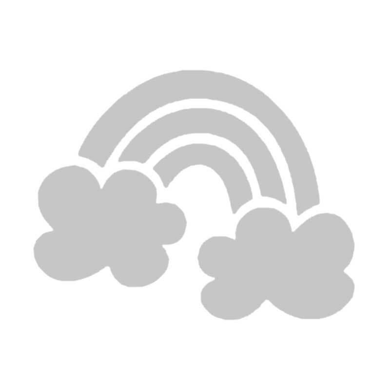 Schablone - 7,5 x 7,5 cm, selbstkl., Regenbogen
