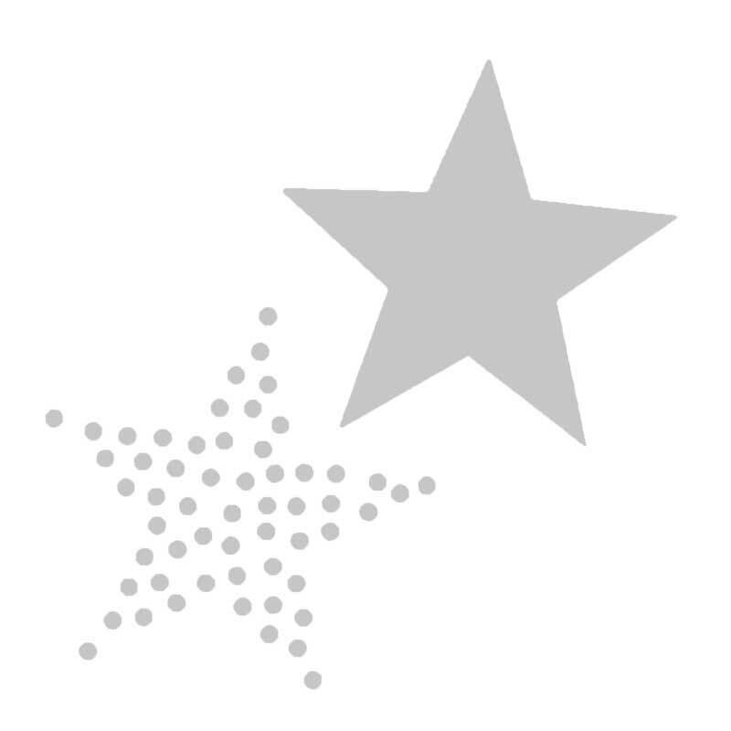 Sjabloon - 7,5 x 7,5 cm, zelfklevend, sterren
