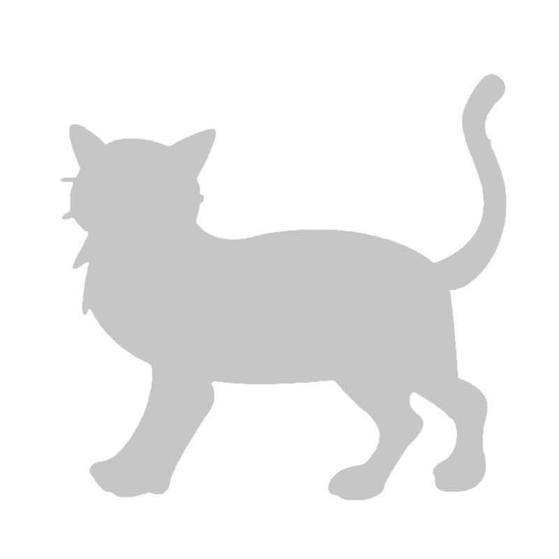 Schablone - 7,5 x 7,5 cm, selbstklebend, Katze