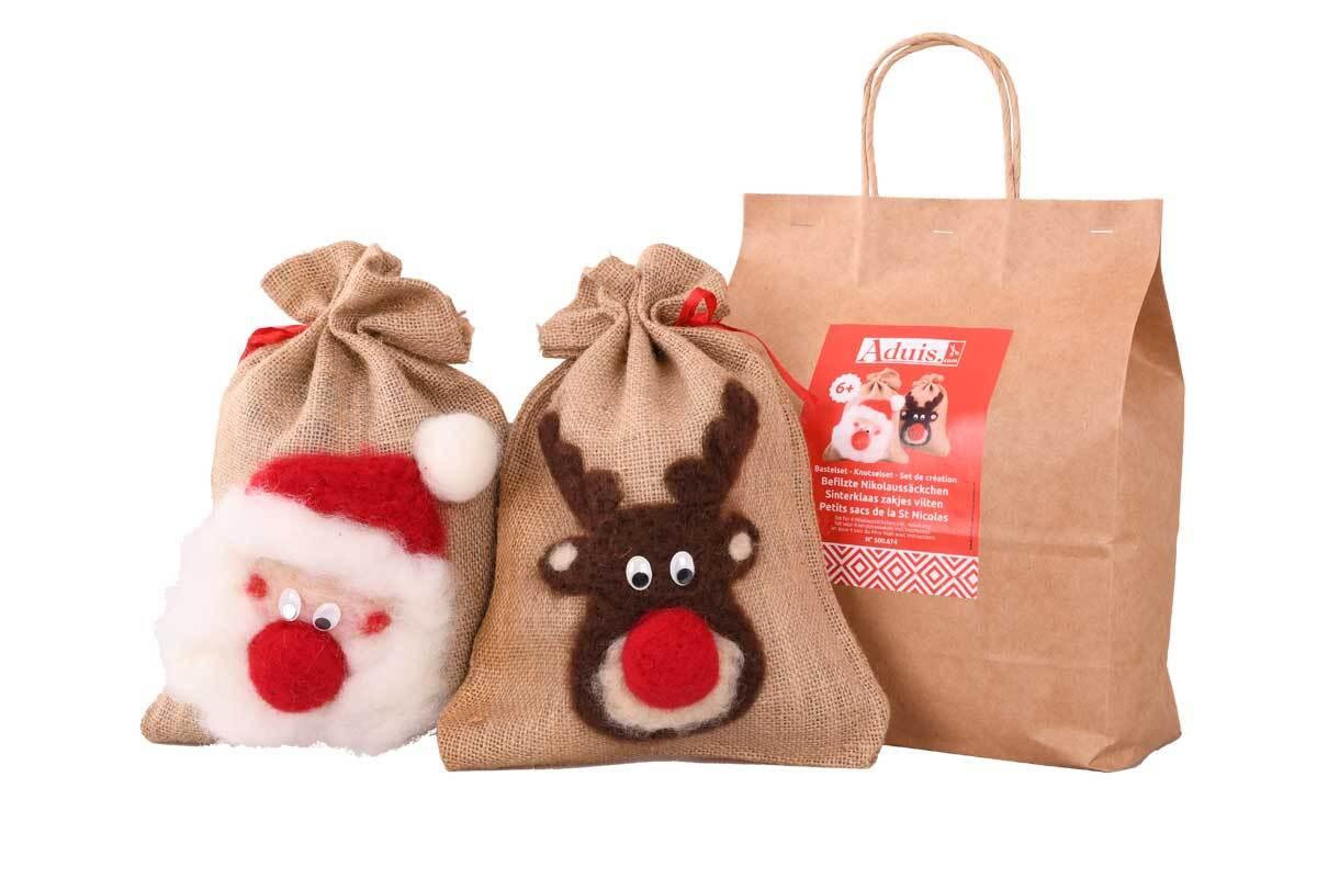 Aduis knutselset - Gevilte kerstmanzakjes