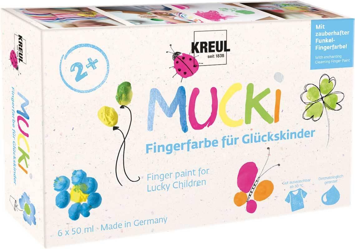 MUCKI vingerverfset gelukskinderen - 6 x 50 ml