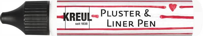 Pluster & Liner Pen - 29 ml, weiß