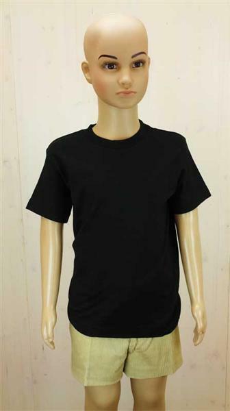 T-Shirt kind - zwart, L