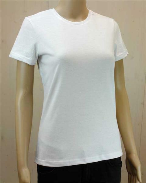 T-shirt vrouw - wit, maat L