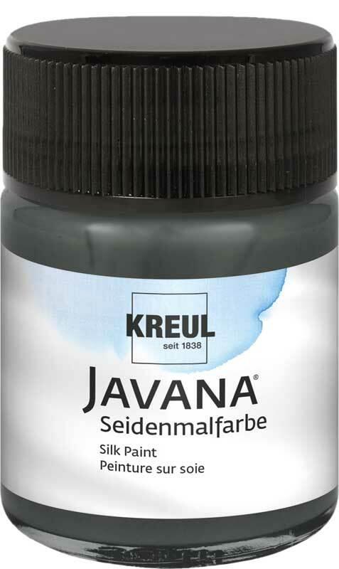 Javana Peinture sur soie - 50 ml,  noir