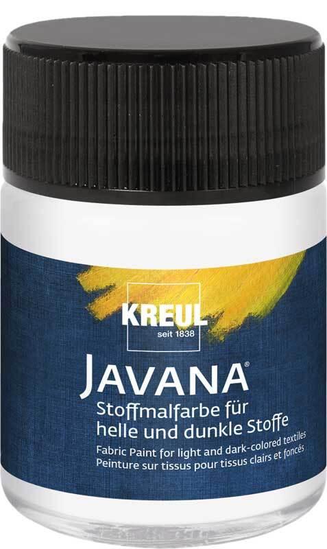 Javana Stoffmalfarbe opak - 50 ml, weiß