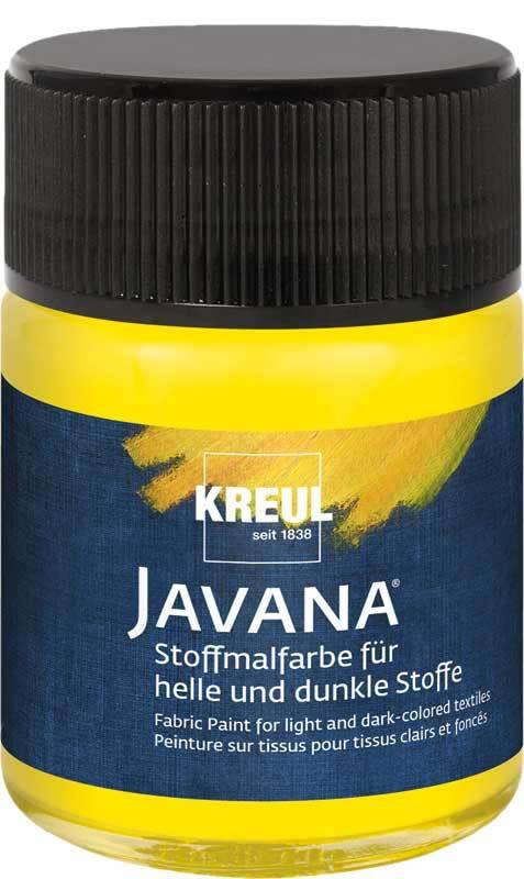 Javana Stoffmalfarbe opak - 50 ml, gelb