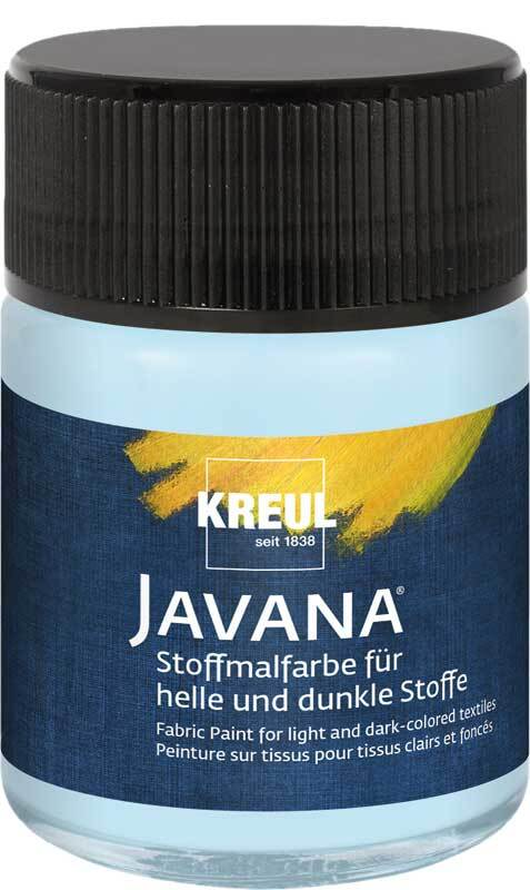 Javana textielverf opaak - 50 ml, ijsblauw