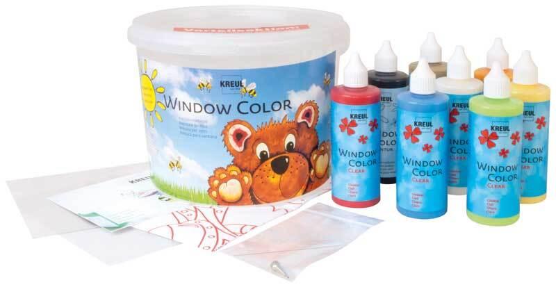 Fenstermalfarben Set - Window Color, Power Pack