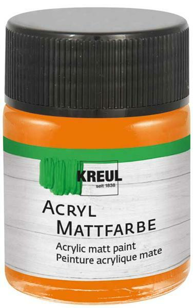 Peinture acrylique mate - 50 ml, orange