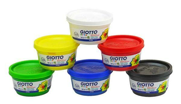 Giotto Fingerfarben Set - 6 x 100 ml