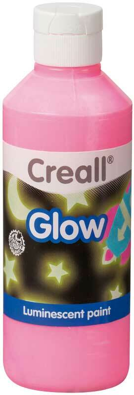 Lichtgevende verf Creall-glow - 250 ml, roze