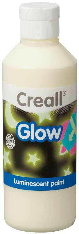 Lichtgevende verf Creall-glow - 250 ml, geel