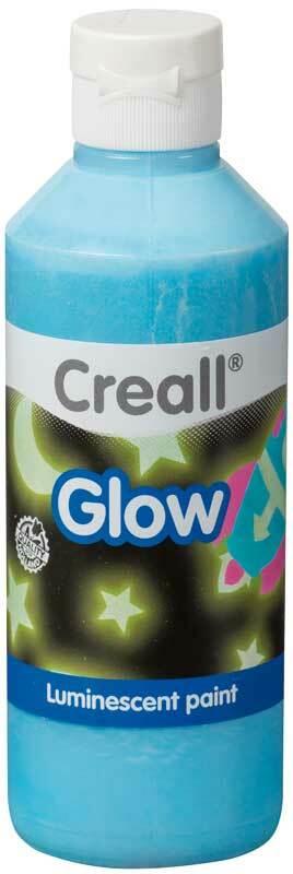 Lichtgevende verf Creall-glow - 250 ml, blauw
