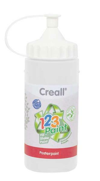 Creall 1-2-3 Paint Nachfüllfarbe - 3 Stk, weiß