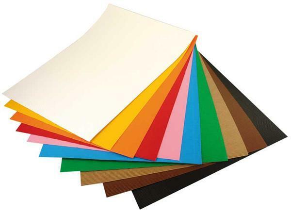 Golfkarton - 50 x 70 cm, 10 vel, diverse kleuren