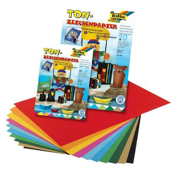 Tonpapierblock - 20 Blatt, A4