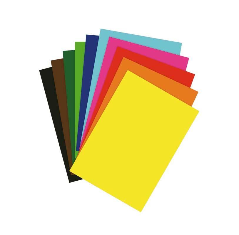Fotokartonblock - A4, 10 Blatt, bunt