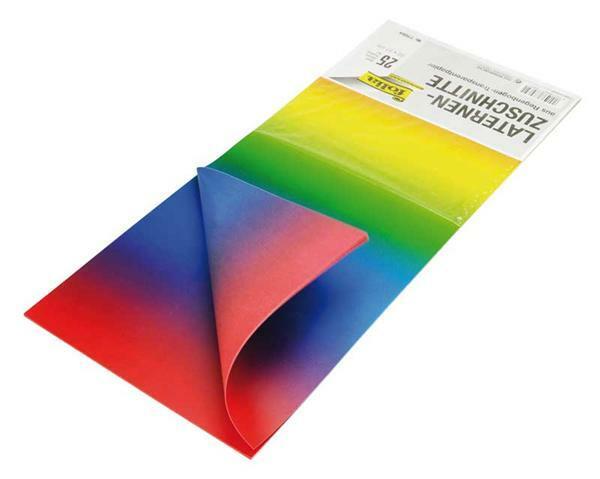 Laternenzuschnitte - 25 Blatt, regenbogen