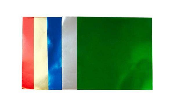 Papier à plier - Feuille d'aluminium, 10 x 10 cm