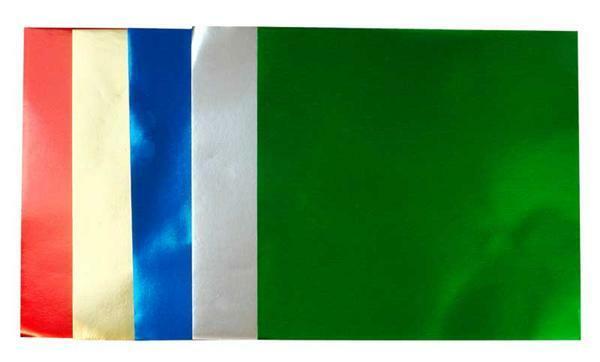 Papier à plier - Feuille d'aluminium, 15 x 15 cm