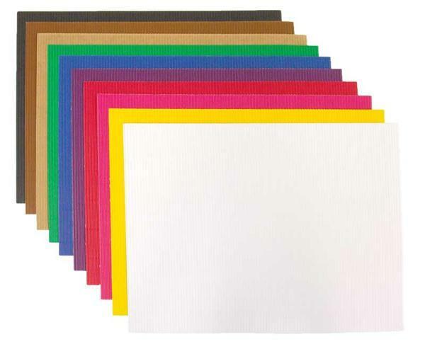 Golfkarton mix - 10 vellen, gekleurd, 25 x 35 cm