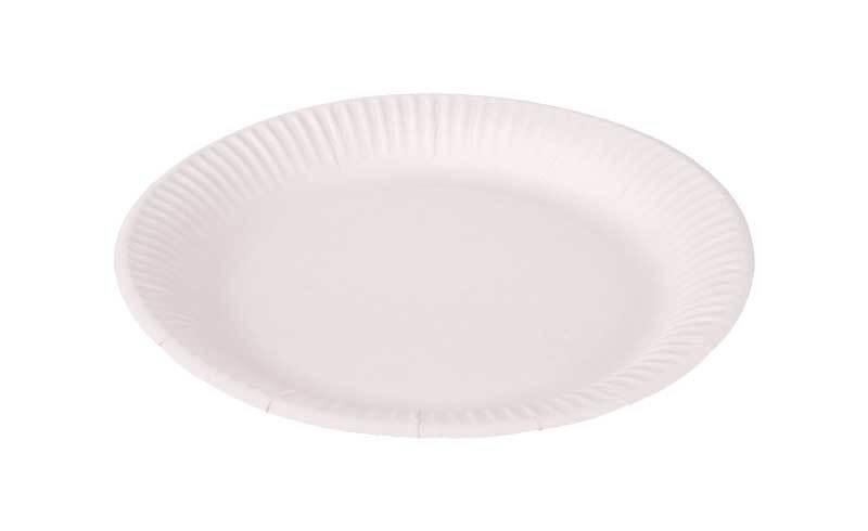Pappteller - weiß, Ø 23 cm