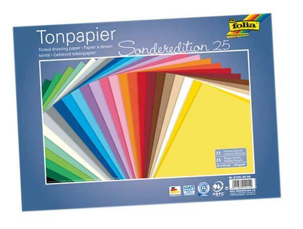 Tonpapier - 25 Bögen, 25 x 35 cm