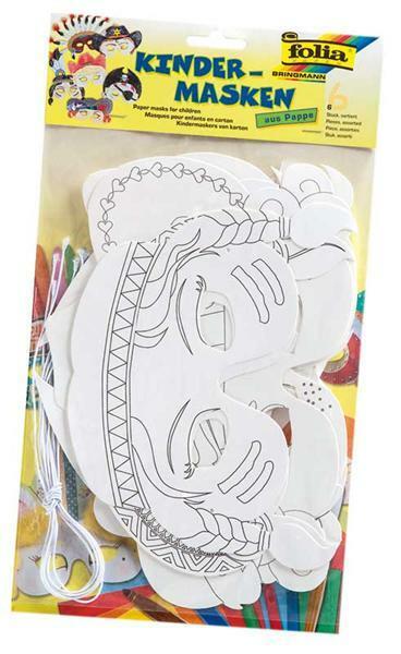 Masken - 6 Stk., Kinderparty