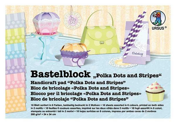 Bastelblock, Polka Dots and Stripes