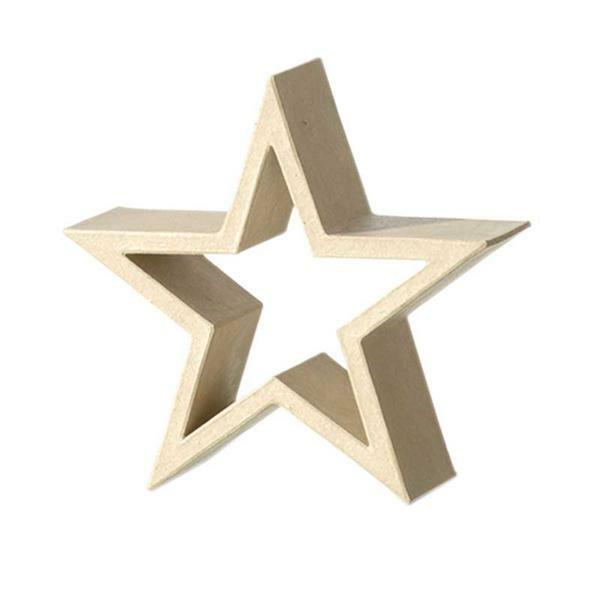 Cadre étoile en papier mâché, 21 x 21 x 7 cm