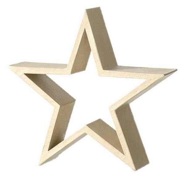 Cadre étoile en papier mâché, 30 x 30 x 8 cm