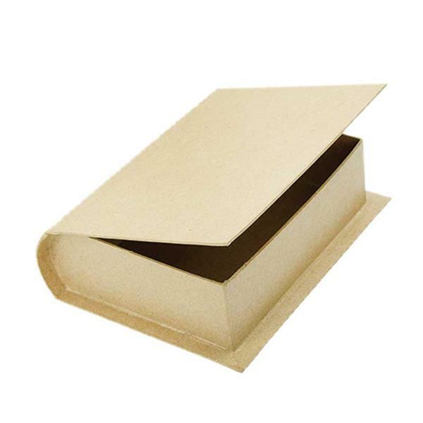 Boîte en papier mâché - Livre grand