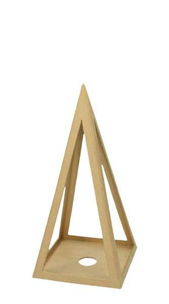 Papier-maché piramide, 25 cm
