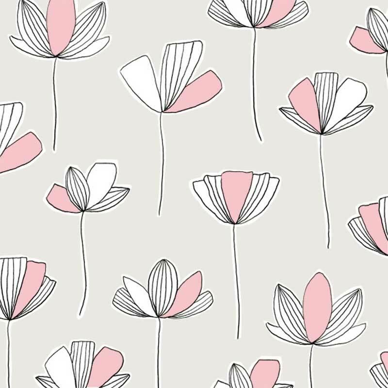 Serviettes - 20 pces, Flower Lines