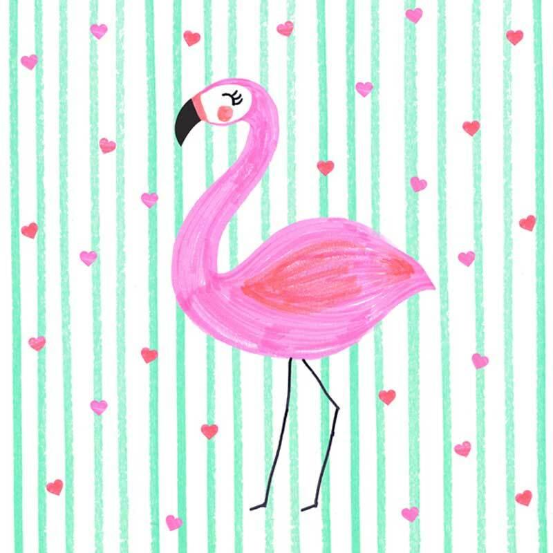 Servetten - 20 st./pak, Flamingo