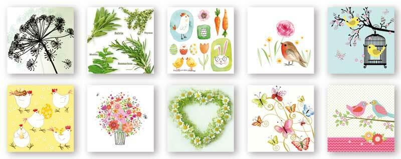 Servietten Mischpackung, Frühling & Ostern
