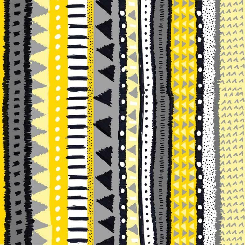 Serviettes - 20 pces, Zanzibar jaune