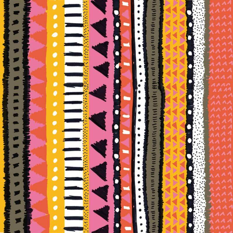 Serviettes - 20 pces, Zanzibar orange