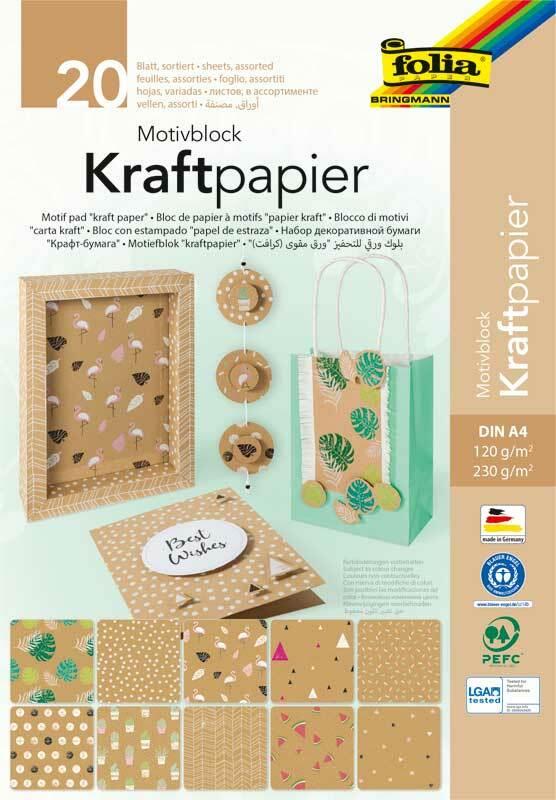Bloc à motifs - papier Kraft A4