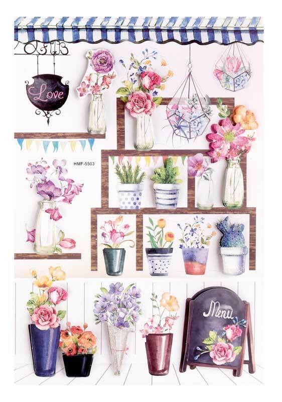 3D stickers - bloemen