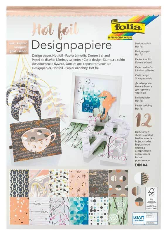 """Papier Design """"Hot foil"""" - avec motifs"""