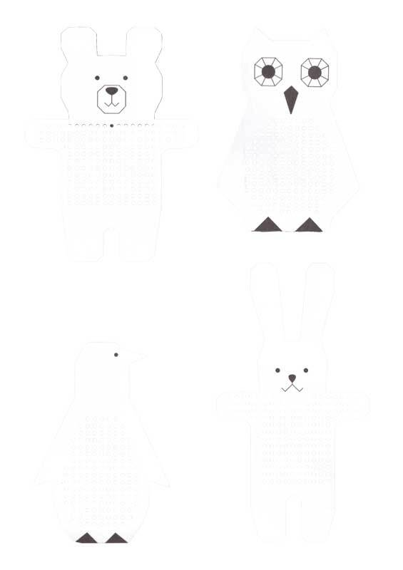 Borduurkarton motieven - dieren