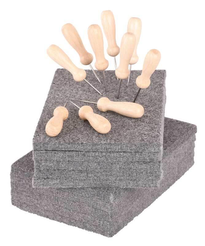 Aduis voordeelpakket - 10 priknaalden & 10 matten