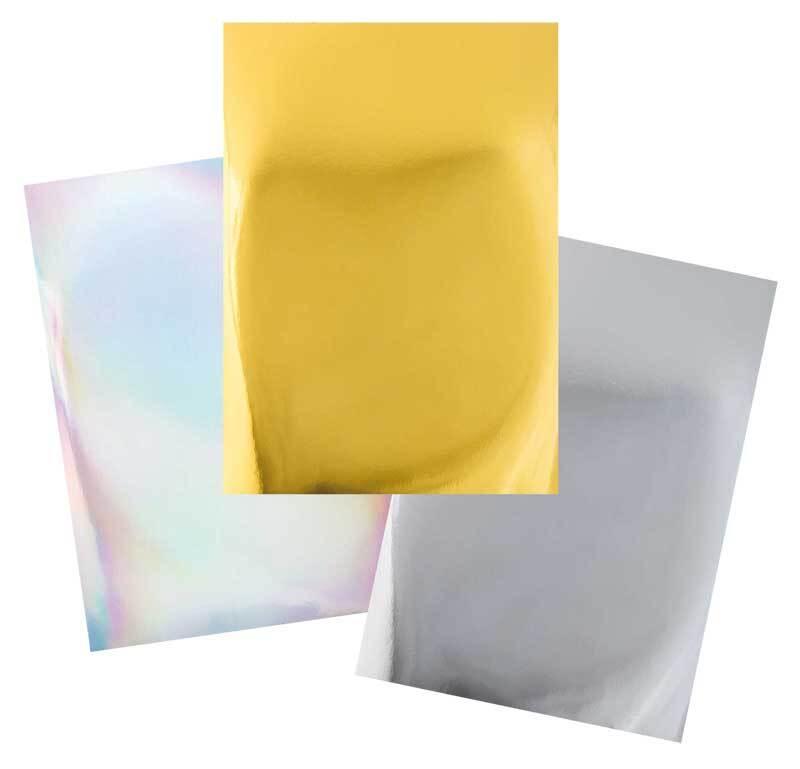 Spiegelkartonblok - goud & zilver, 12 vellen