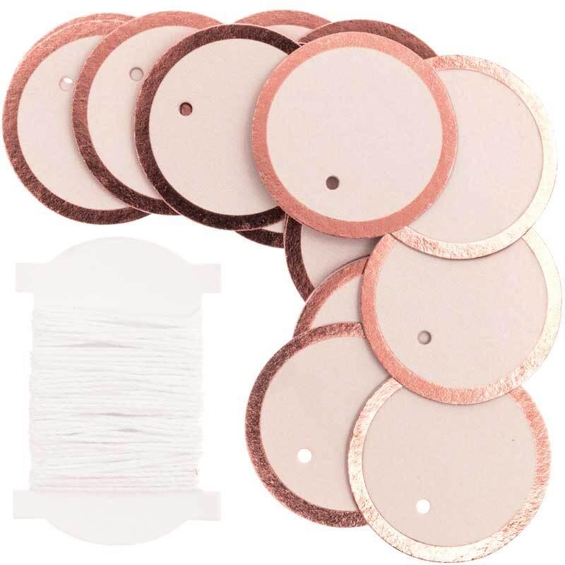 Etiquettes - 24 pces, ronds, poudre