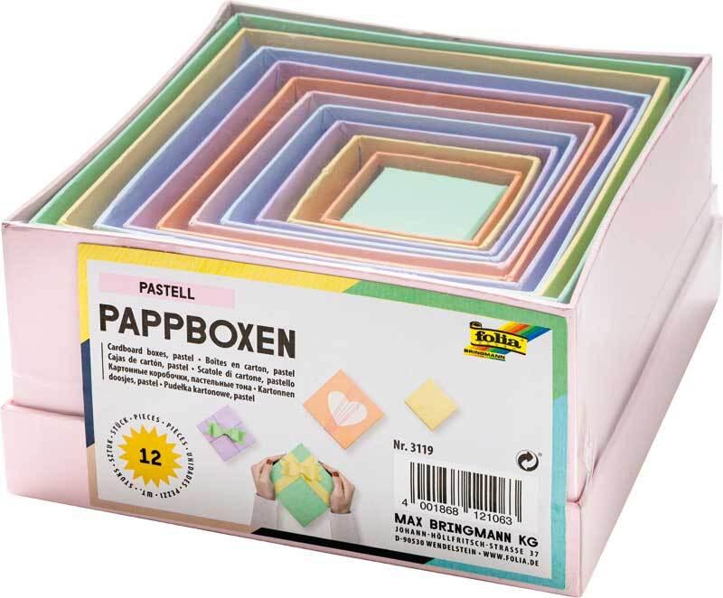 Boîtes-cadeaux - carrées, pastel