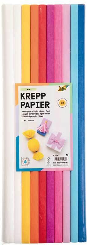 Krepppapier - 9 Farben, candy
