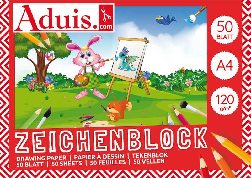 Aduis Zeichenblock - 50 Blatt, A4